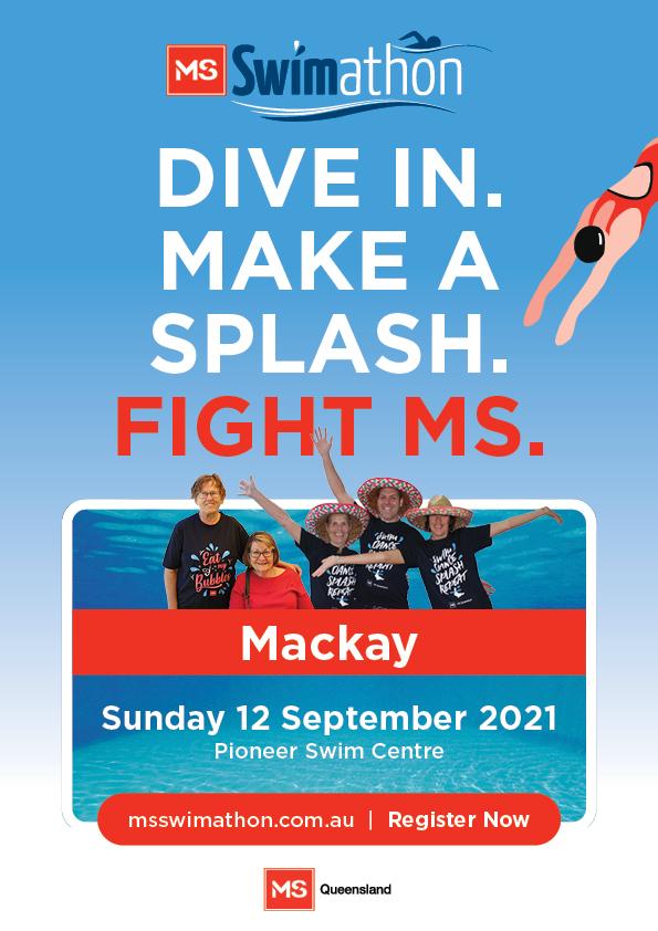 Event Poster- Mackay MS Swimathon