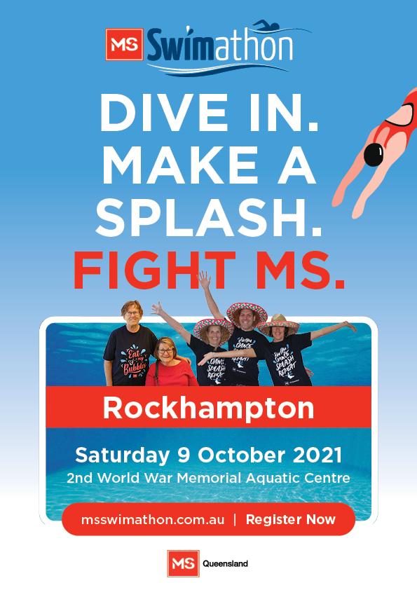 Event Poster- Rockhampton MS Swimathon