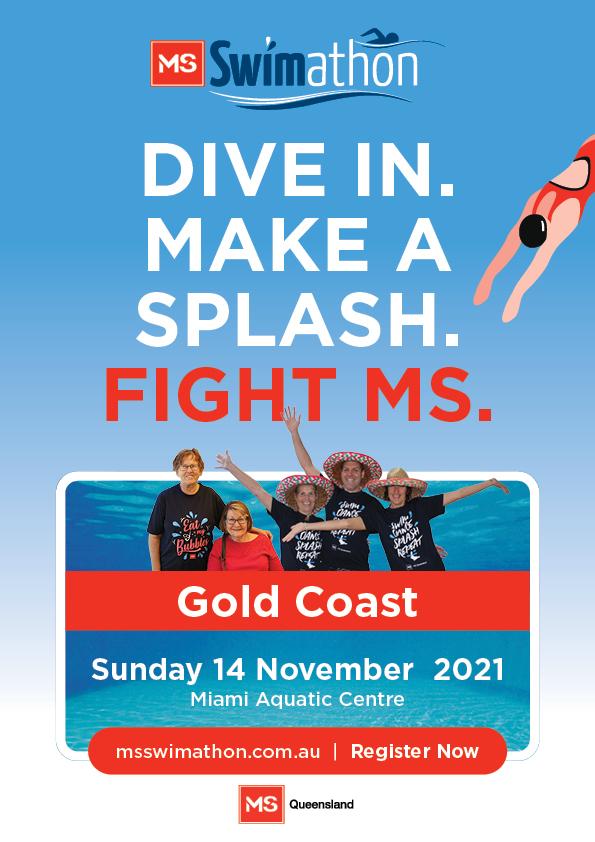 Event Poster- Gold Coast MS Swimathon